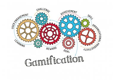 Gears and Mechanisms with text Gamification