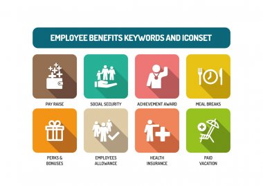 Employee Benefits Icons Set