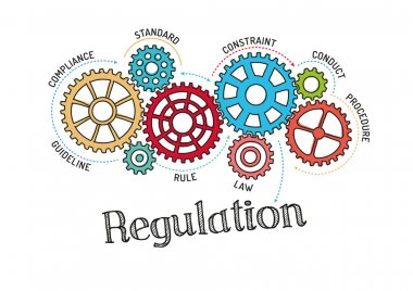 Gears and Mechanisms with text Regulation
