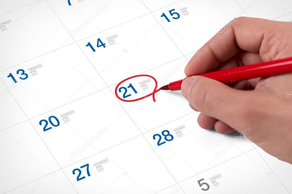 2010 április naptár Mark a naptár: április — Stock Fotó © garagestock #108084424 2010 április naptár