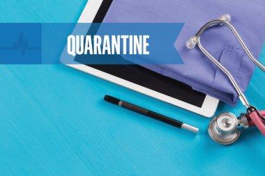 HEALTHCARE DOCTOR TECHNOLOGY  QUARANTINE CONCEPT stock vector