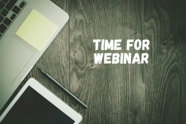 TIME FOR WEBINAR text