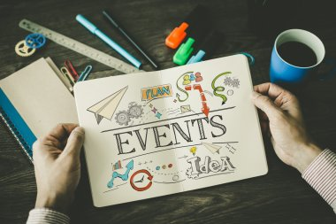 EVENTS sketch on notebook