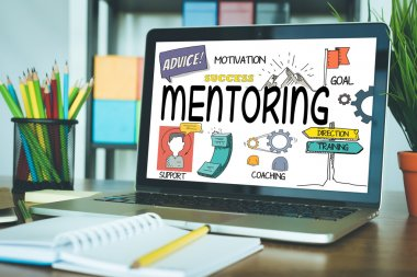 MENTORING text on screen
