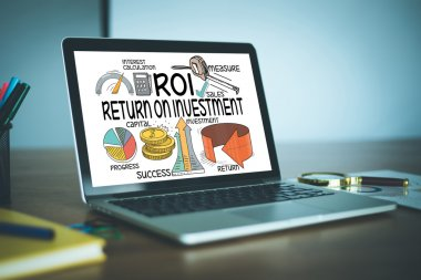 ROI return and invest text