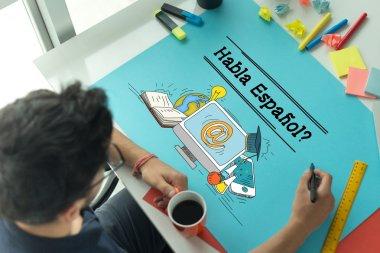 HABLA ESPANOL education concept