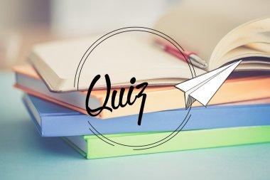 QUIZ education concept