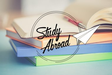 STUDY ABROAD education concept