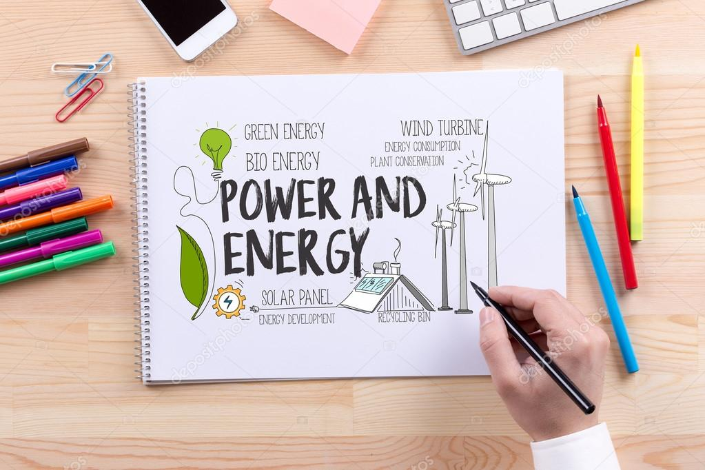 ENERGY AND POWER text