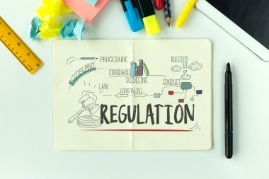 Regulation text on paper