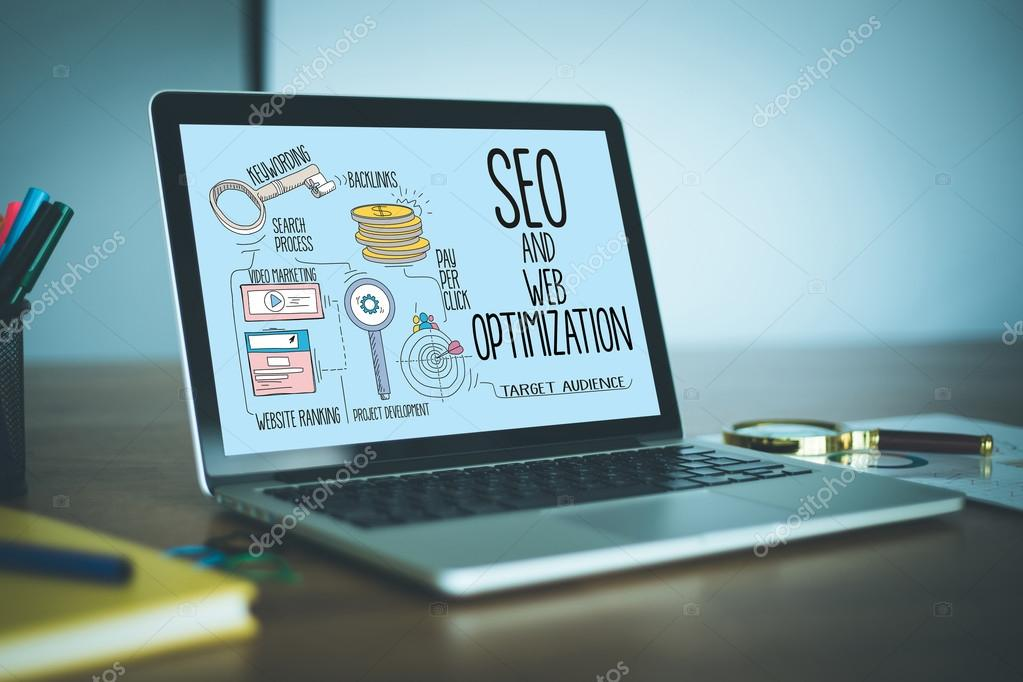 SEO AND WEB OPTIMIZATION text