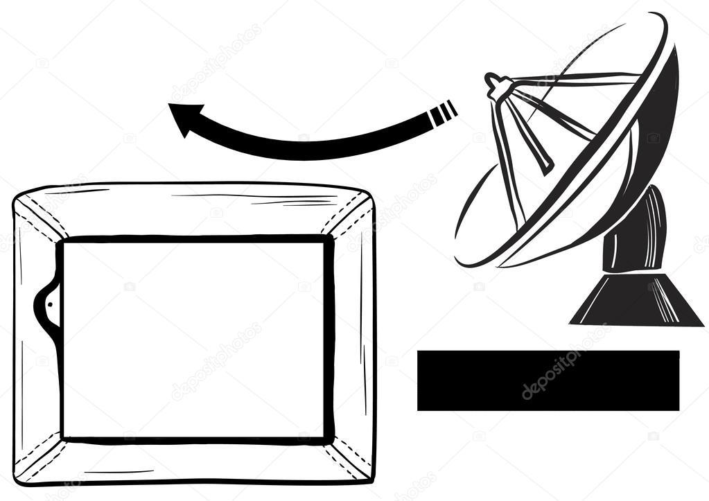 Una Tv recepción satélite y Tv — Fotos de Stock © splash.studio ...