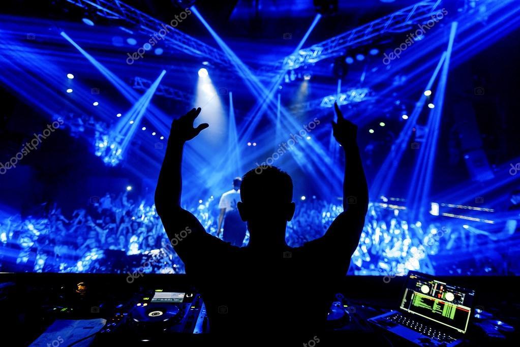 nightclub allover printed dj - HD2560×1709