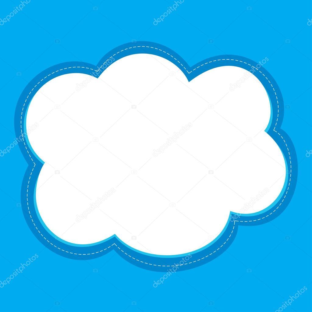 Cloud frame vector — Stock Vector © Fedpy #113783692