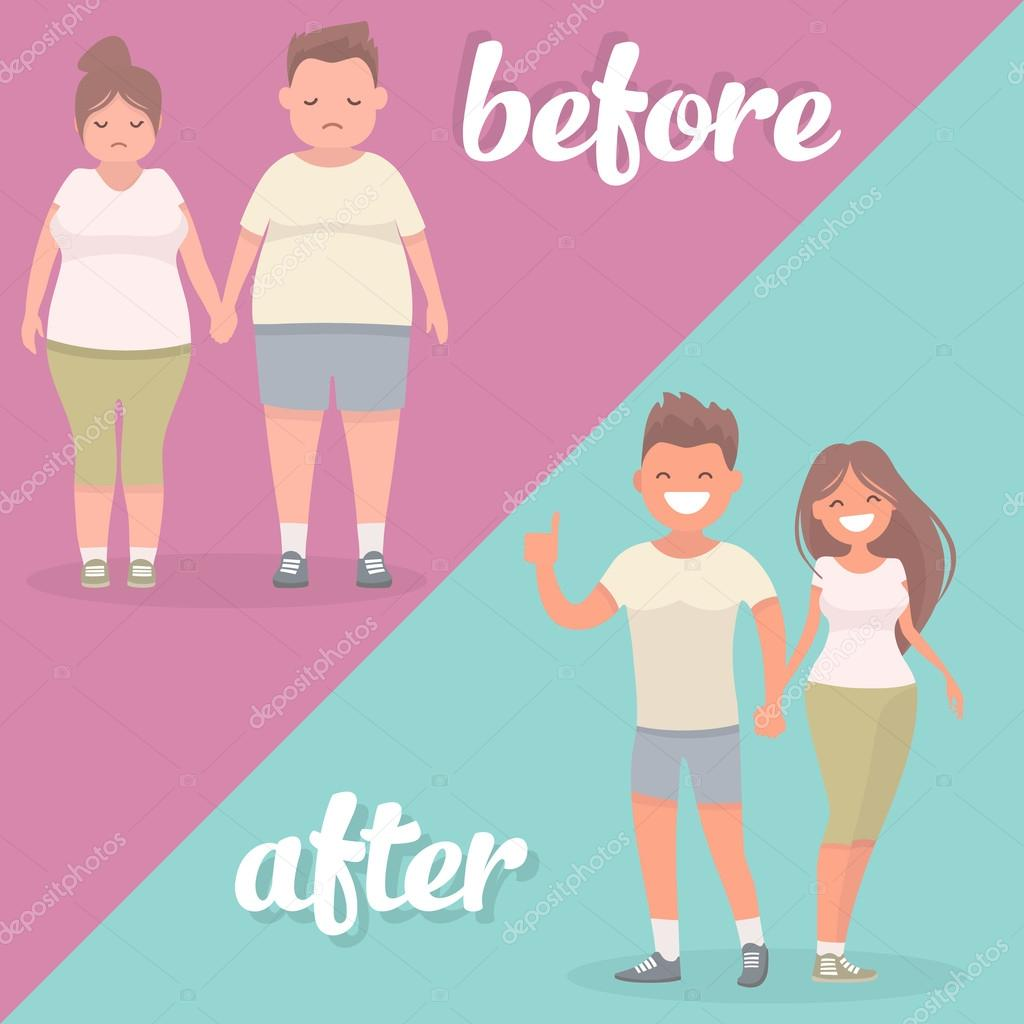 Perdida de peso hombre y mujer