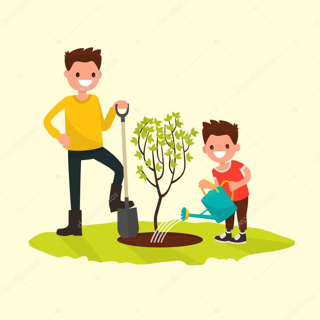 Посади дерево открытка, христианские днем рождения