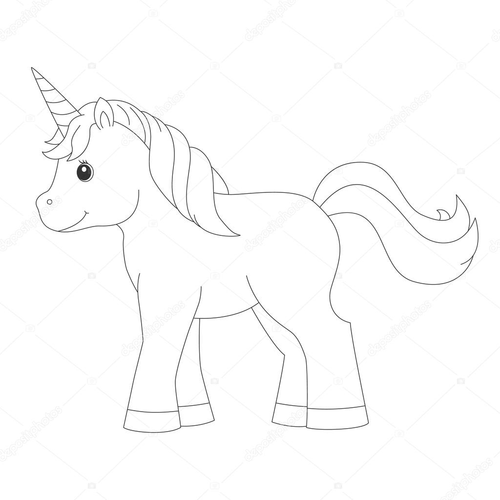 Unicorn For Coloring Book Stock Vector C Romalka 122818542
