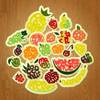 Vector illustration of hand drawn fruits