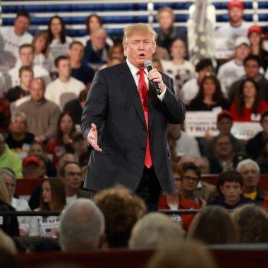 Des Moines, Iowa, December 11, 2015:  Donald Trump speaks to crowd