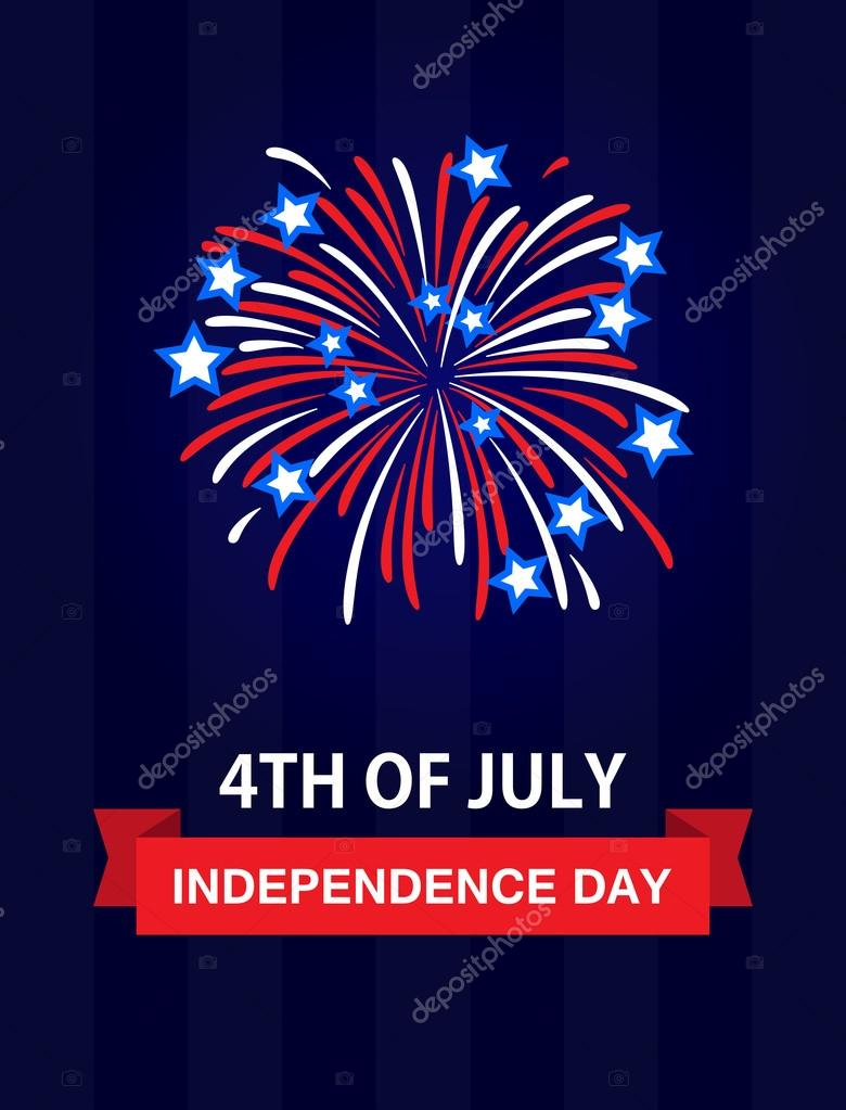 Happy independence day the 4th july united states of america usa happy independence day the 4th july united states of america usa fireworks celebration greetings card holidays us important day for the whole nation m4hsunfo