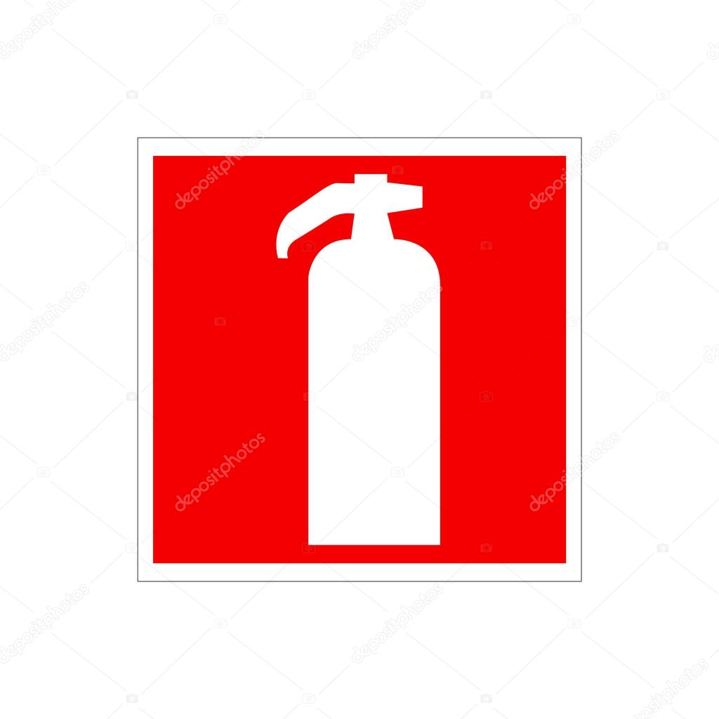 Of a red fire extinguisher on the wall warning european union drawing of a red fire extinguisher on the wall warning european union sign white sihlouette of fire buycottarizona