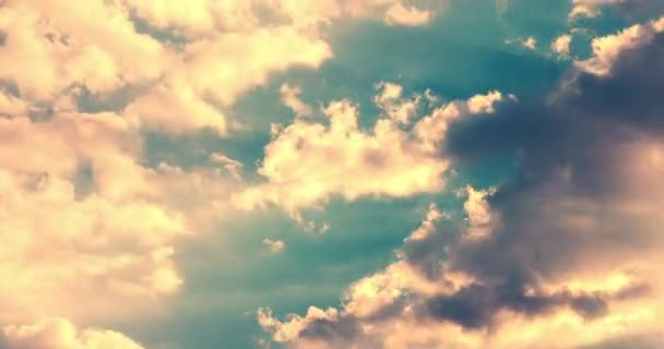 Clouds sky. Clouds sunset. Sunlight through clouds. Clouds timelapse