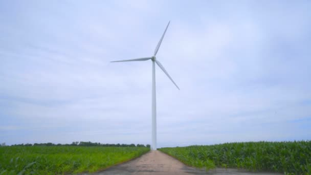 Wind turbine on wind farm. Wind generator. Wind power generation