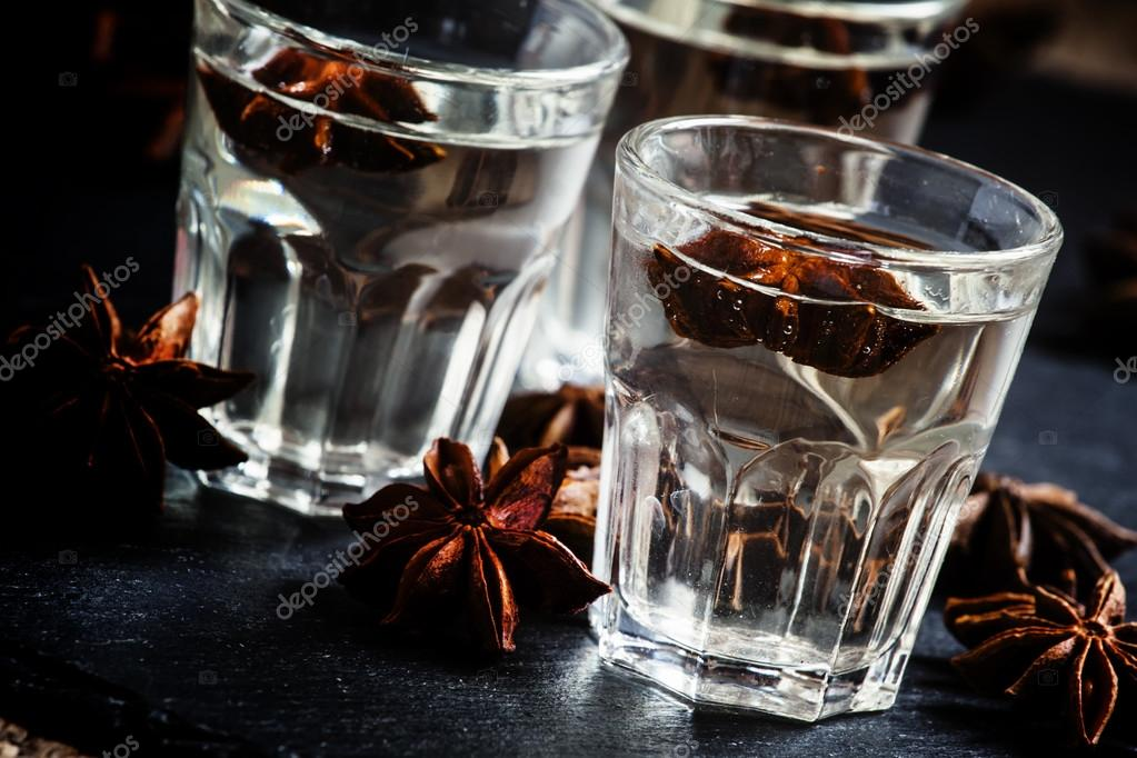 Anisette, vodka made from anise