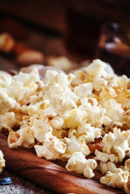 Salty popcorn - snack to beer or cola