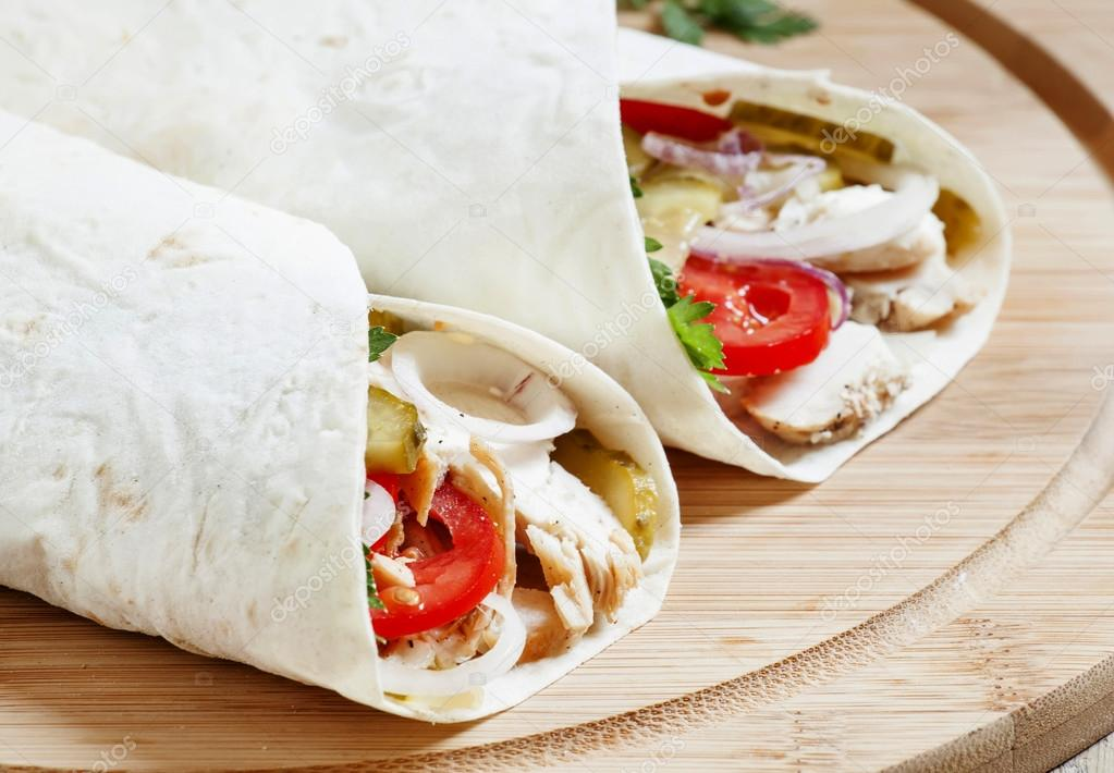 Turkish Doner Kebab Roll With Meat And Pita Bread Stock Photo C 5ph 114816496
