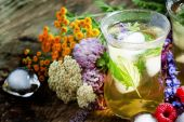 Fotografie Herbal iced tea with herbs