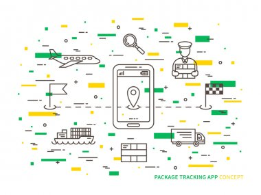 Package tracking creative concept