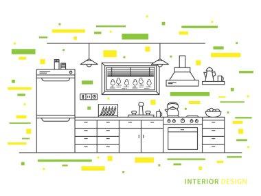 Modern designer kitchen interior