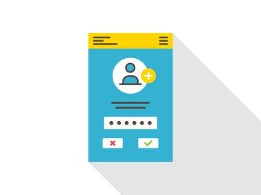 Login access mobile webpage