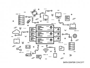 Data center creative concept