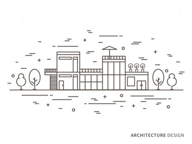 Modern designer house (mansion, homestead)