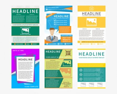 Collection (set) of flyer, leaflets, poster