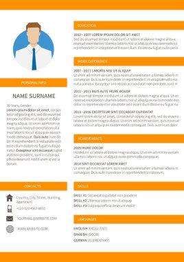 Resume cv minimalist template