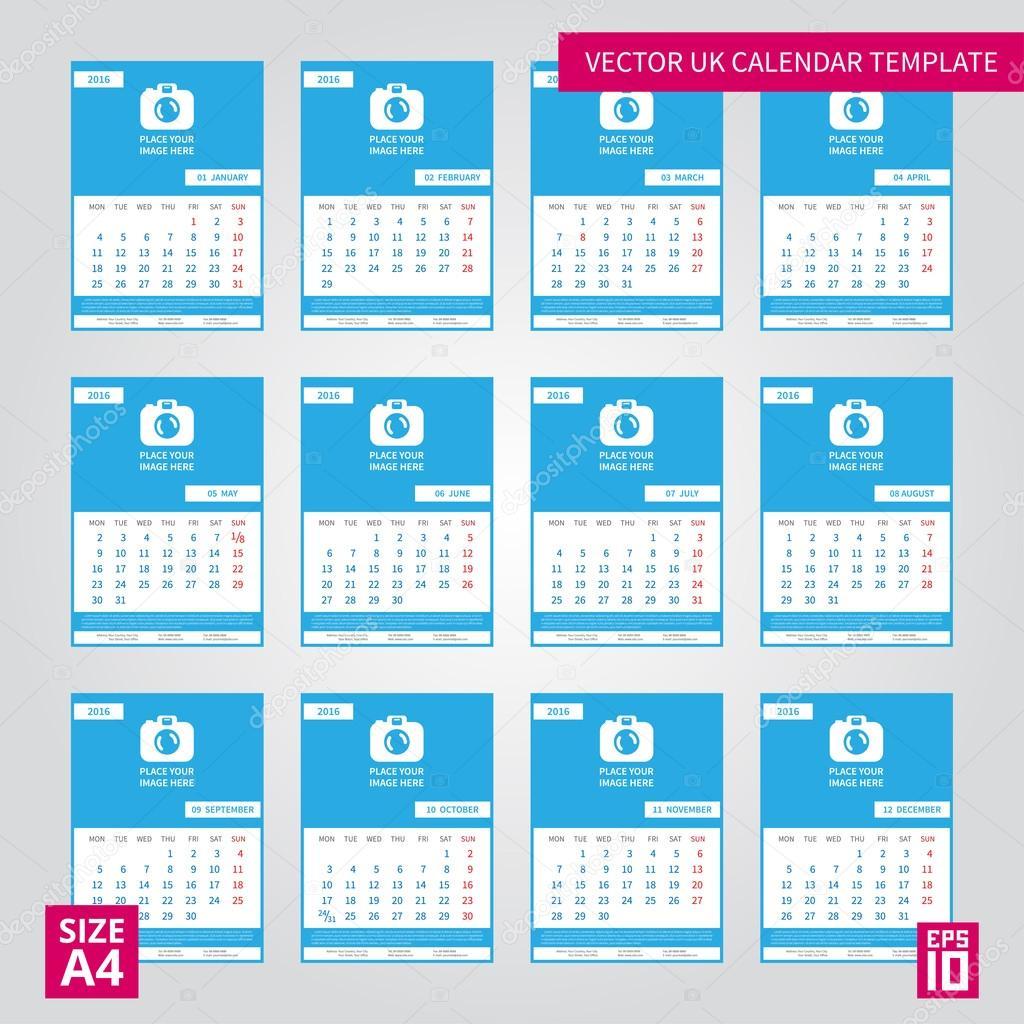 Calendario Internazionale.Calendario Annuale Internazionale Vettoriali Stock