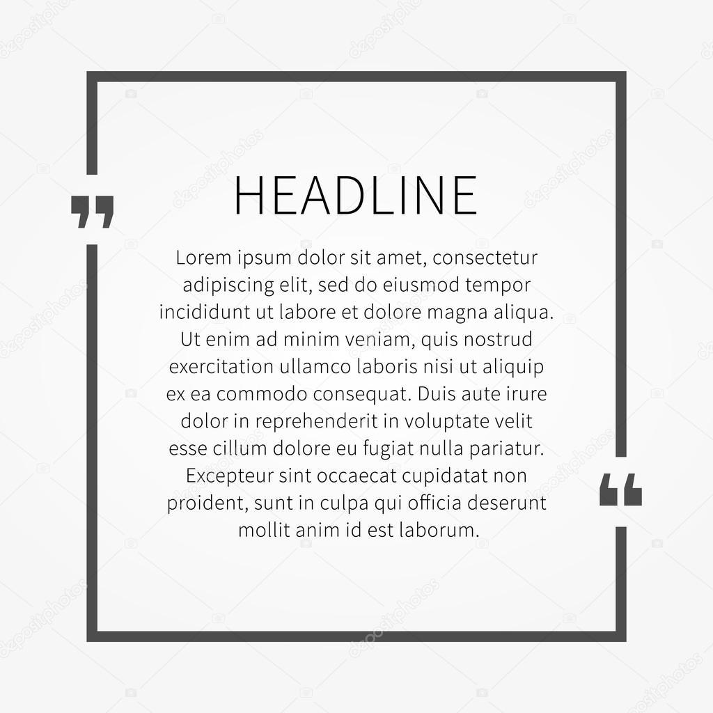 Beispiel Text Angebotsvorlage — Stockvektor © AleksOrel #107638260