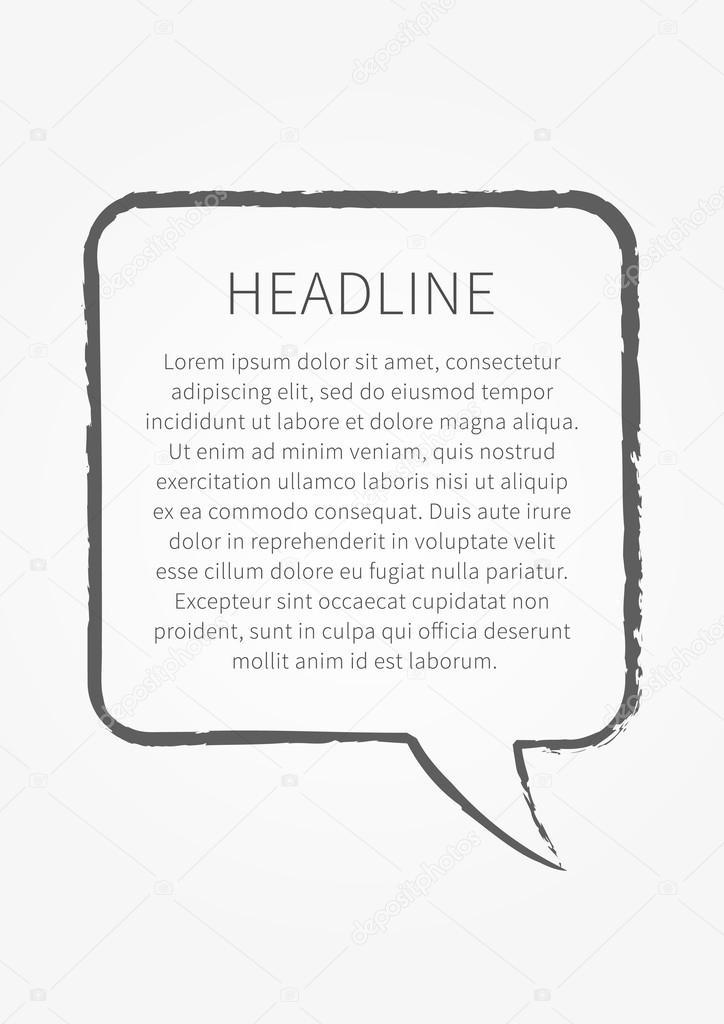 Beispiel Text Angebotsvorlage — Stockvektor © AleksOrel #107638902
