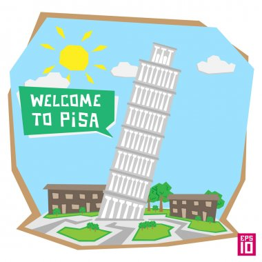 Italian leaning Pisa tower