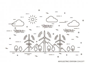 Linear air electric station