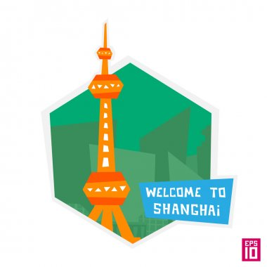 Shanghai tower oriental pearl