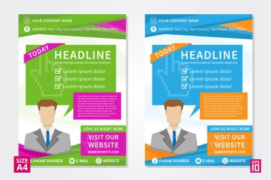 Flyer, poster, leaflet, report design