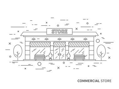 Store (shop) exterior (landscape) design