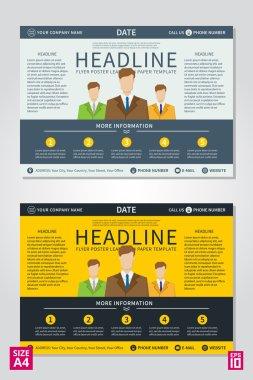 Flyer, poster, leaflet, report design