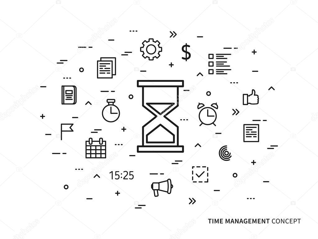 Time Management Creative Concept Stock Vector C Aleksorel 107648360