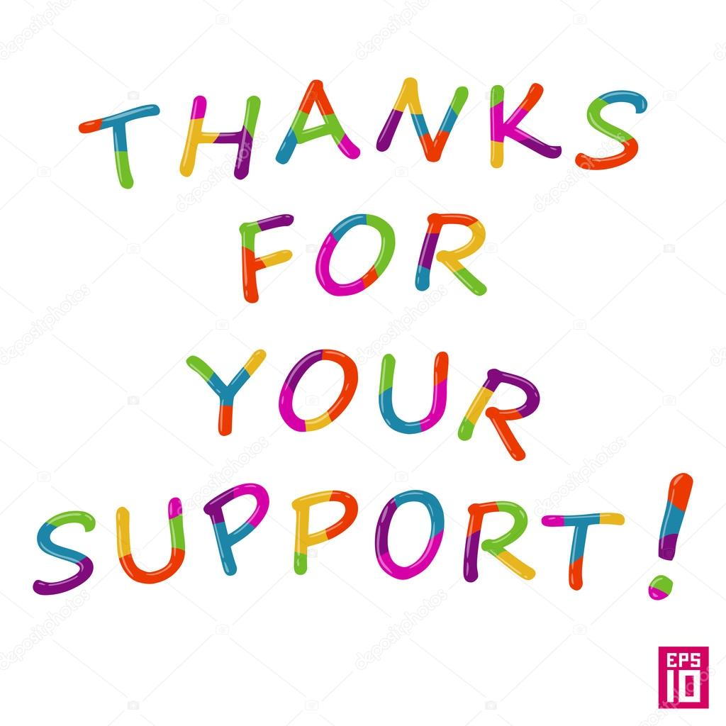 message thank you for support stock vector aleksorel 107648928