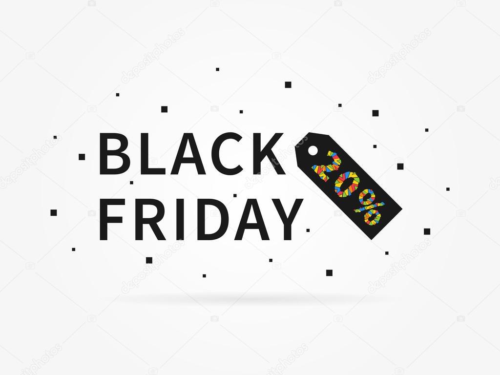 Black Friday 20 Discount Stock Vector C Aleksorel 107649512